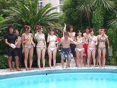 nude Japan pool outdoor