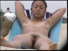 girls Asian nudist beach